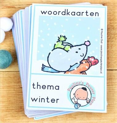Woord-kaarten Thema Winter