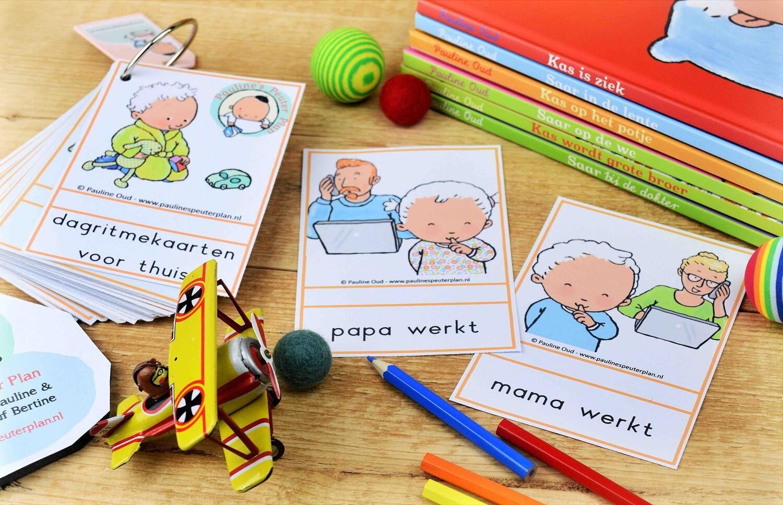 Extra Dagritme-kaarten: mama-papa werkt