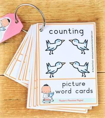 Counting Picture Word Card Set