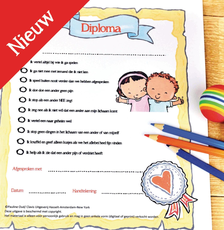 Afspraken Diploma - bij het boek  Ja & Nee gevoelens