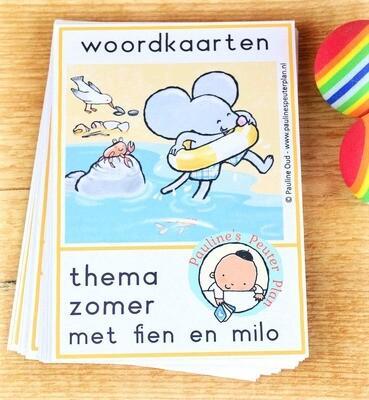 Woordkaarten Zomer met Fien en Milo