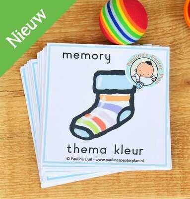 Memory spel Sokken Zoeken thema Kleur