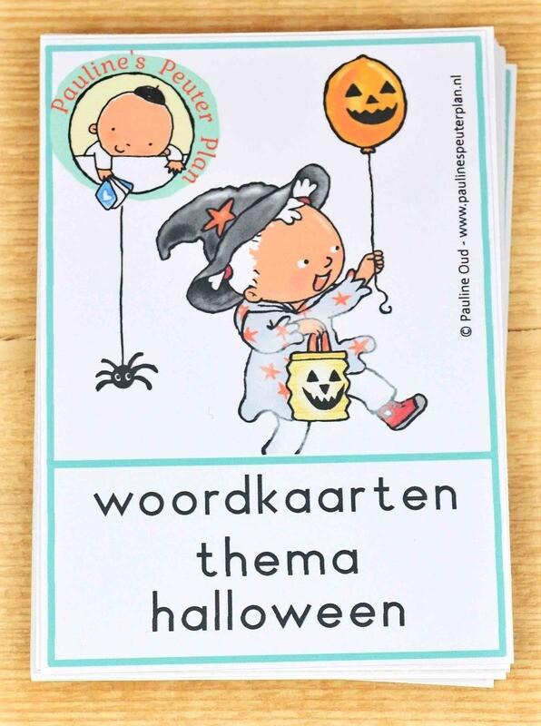 Woord-kaarten Thema Halloween