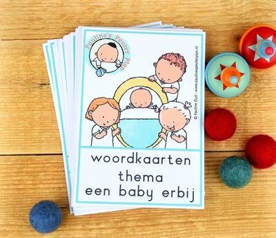 Woord-kaarten Thema Een baby erbij