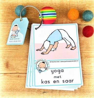 Woord-kaarten Yoga met Kas en Saar