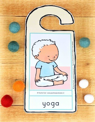 Deurhanger: Yoga met Kas en Saar