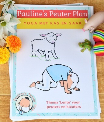 Lespakket Yoga met Kas en Saar Thema Lente
