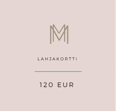 Lahjakortti 120 eur
