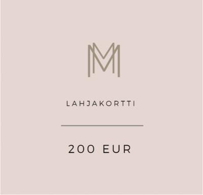 Lahjakortti 200 eur