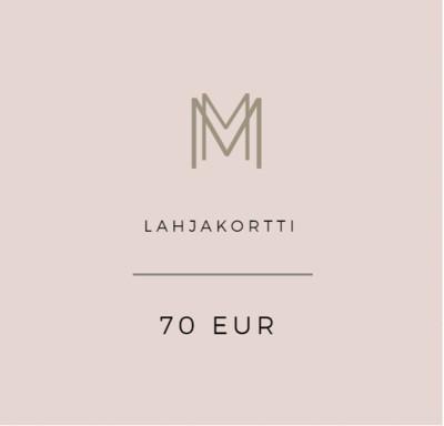 Lahjakortti 70 eur