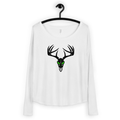 Deer Head Ladies' Long Sleeve Tee