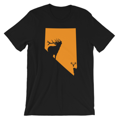 Nevada State Elk Short-Sleeve Unisex T-Shirt