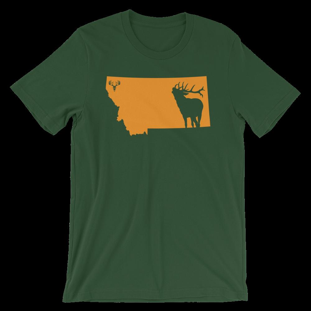 Montana State Elk Short-Sleeve Unisex T-Shirt