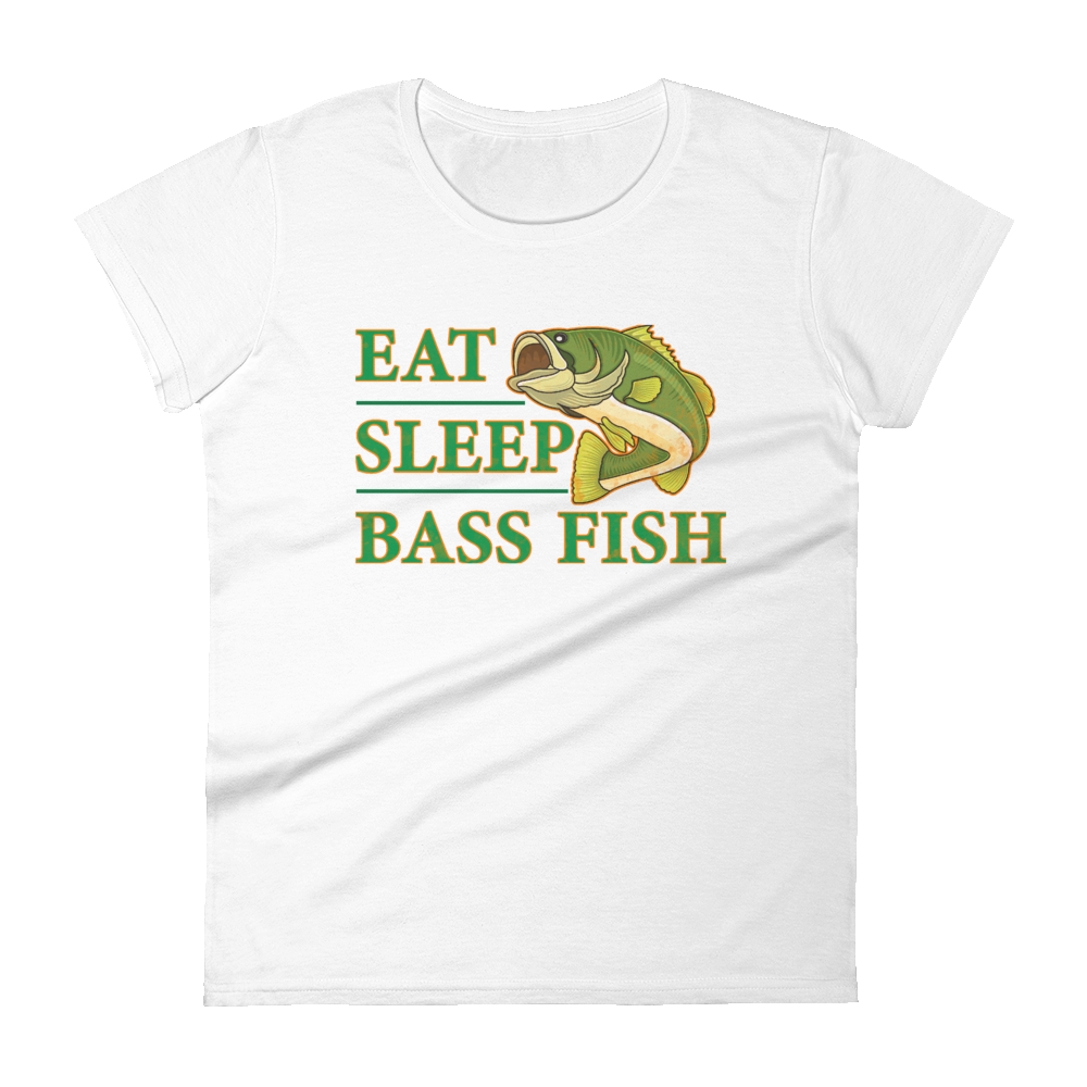 Eat Sleep Bass Fish Women's short sleeve t-shirt