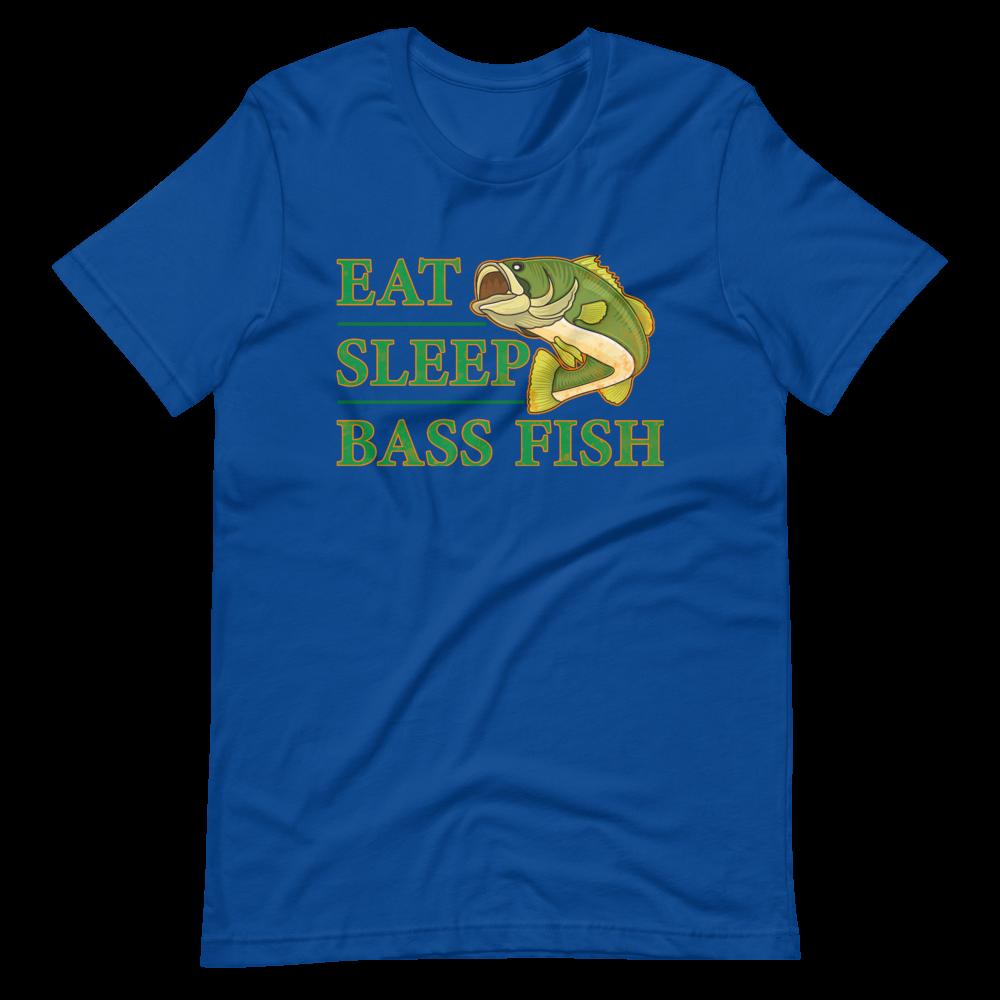 Eat Sleep Bass Fish Short-Sleeve Unisex T-Shirt