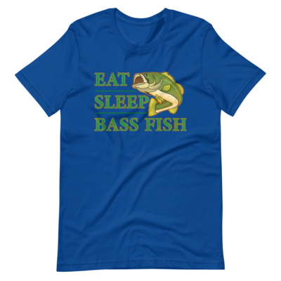 Eat Sleep Bass Fish Short-Sleeve Unisex T-Shirt
