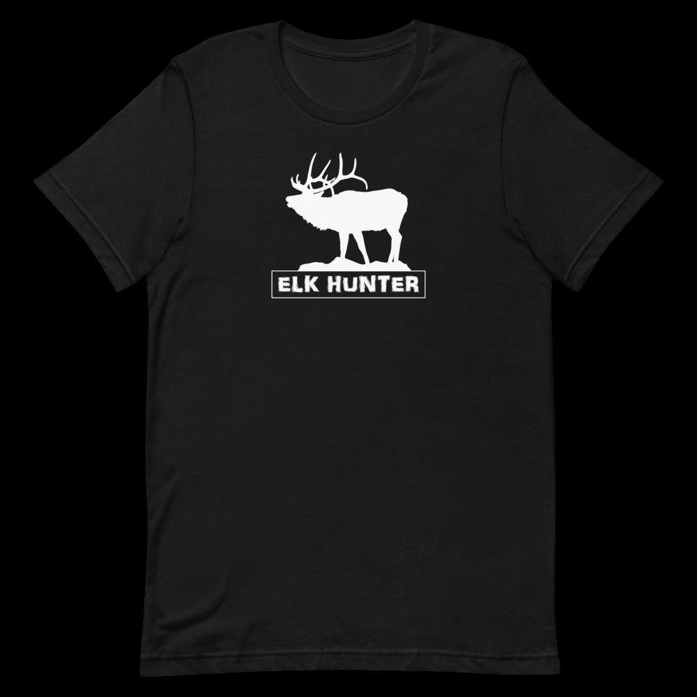 Elk Hunter White Short-Sleeve Unisex T-Shirt