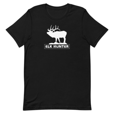 Elk Hunter White Short-Sleeve Unisex T-Shirt