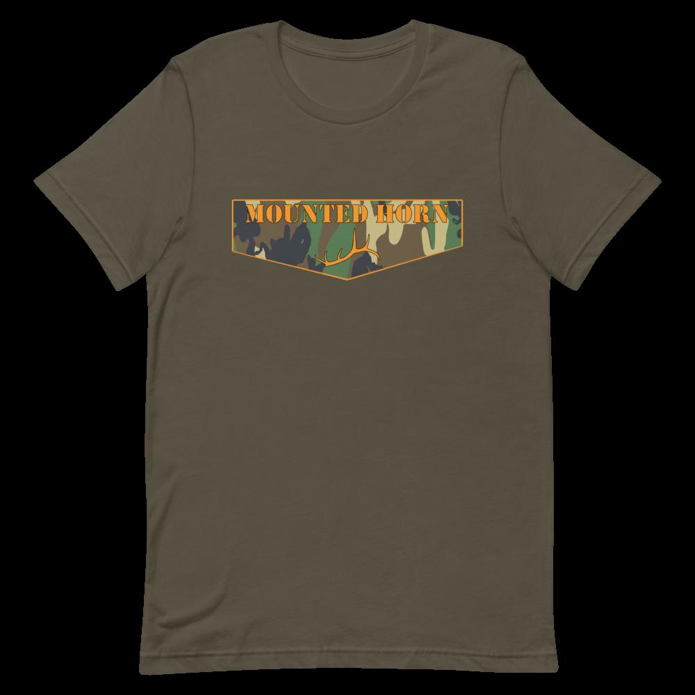 Mounted Horn Logo Short-Sleeve Unisex T-Shirt