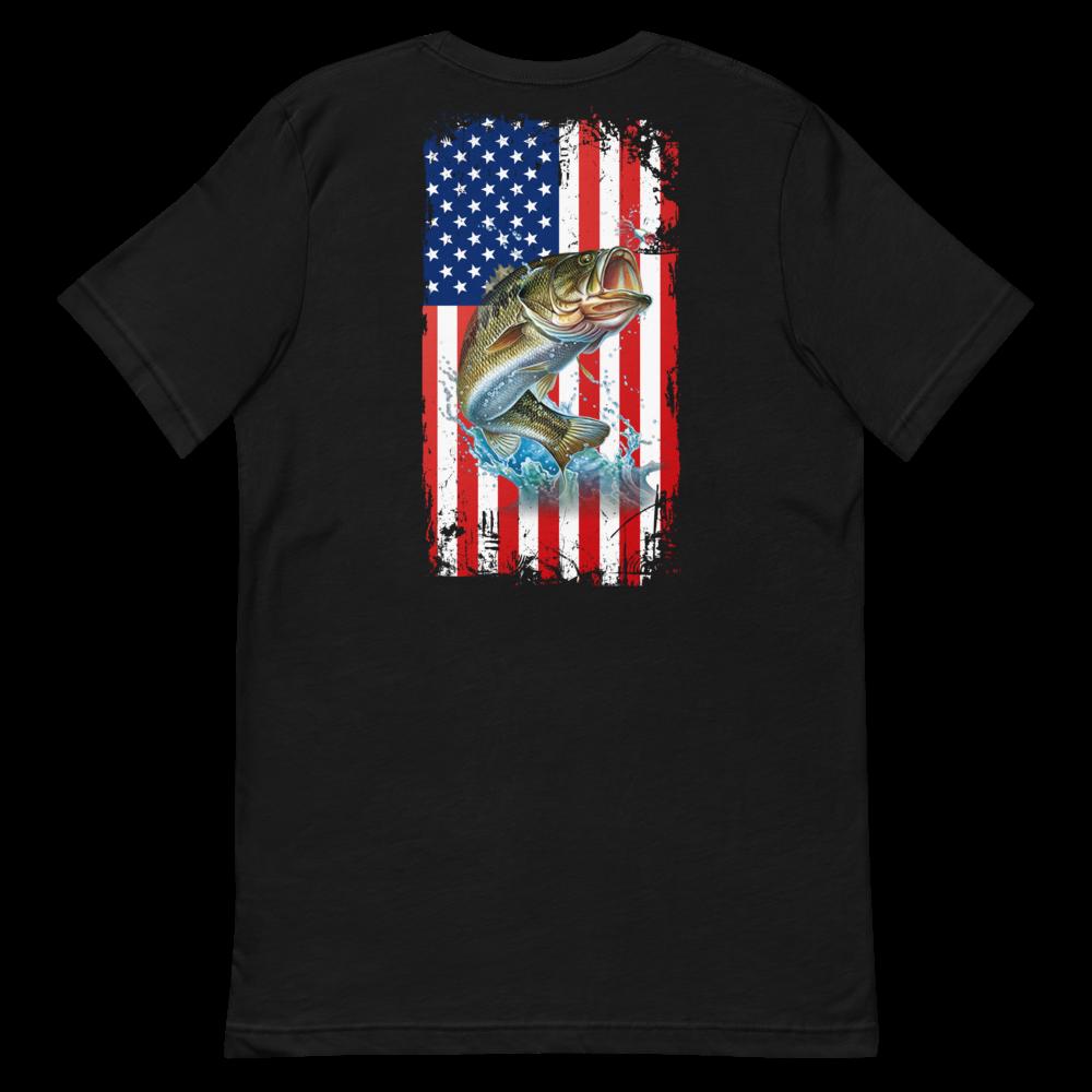 Bass USA Flag Short-Sleeve Unisex T-Shirt