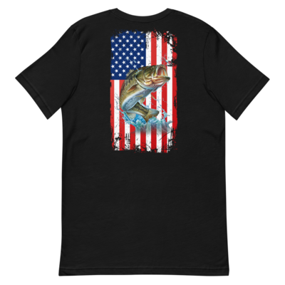 Bass USA Flag Short-Sleeve Unisex T-Shirt