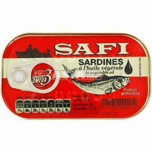 SAFI SARDINES IN VEGETABLE OIL 125G