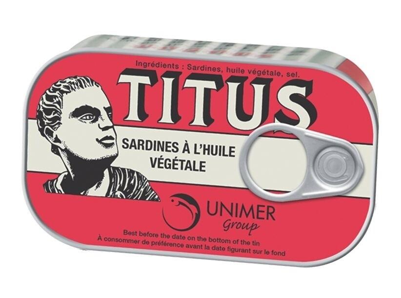Titus Sardines in Vegetable Oil  4.3oz
