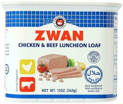 Zwan Luncheon Halal Loaf, Chicken/Beef 340g