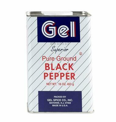 Gel Superior Black Pepper, Ground - 16 oz