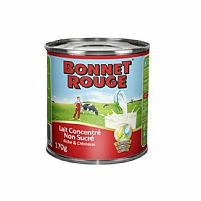 Bonnet Rouge Concentrated Milk Unsweetened - 170G