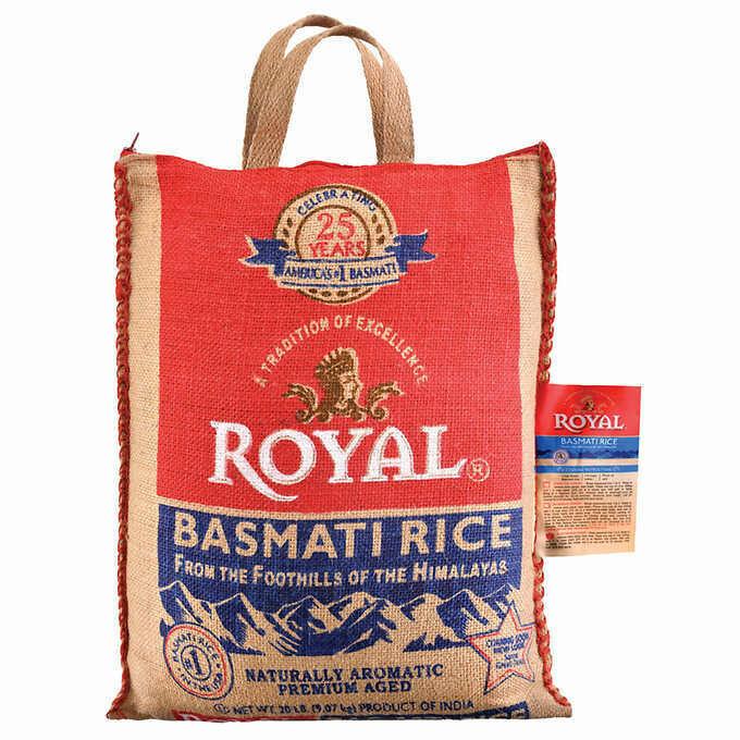 Royal Basmati Rice, 20 lbs