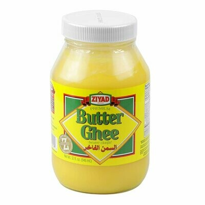Ziyad Butter Ghee 32 oz Glass Jar