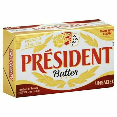 President Unsalted Butter  7oz (198g)