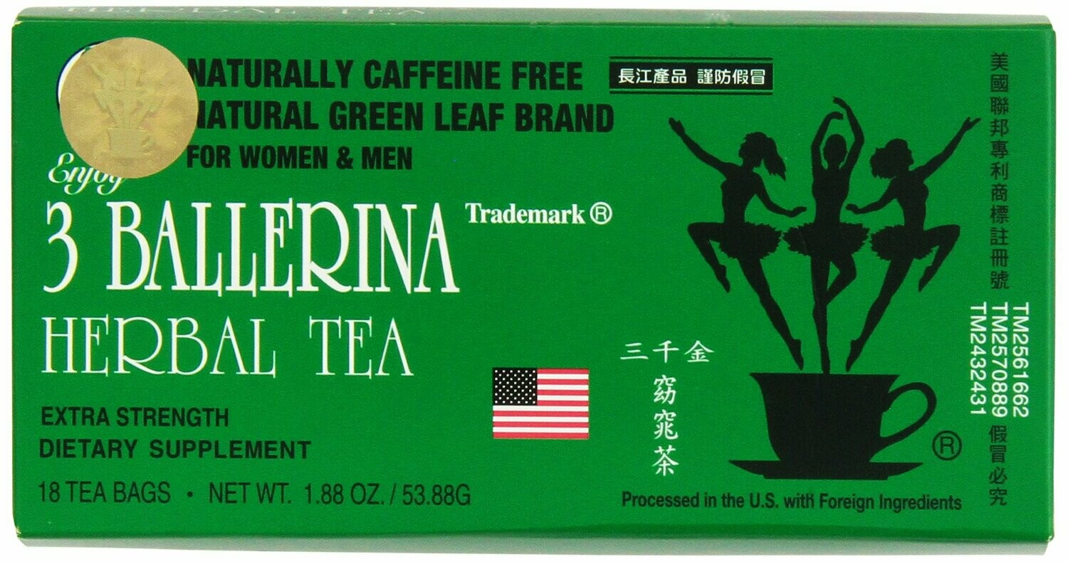 3 BALLERINA TEA DIETERS DRINK EXTRA STRENGTH, 1.88oz 18 Count