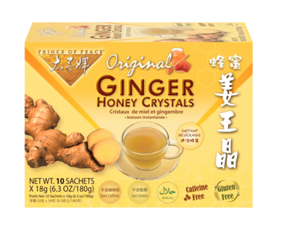 Ginger Honey Crystals  10 Sachets (6.3oz)