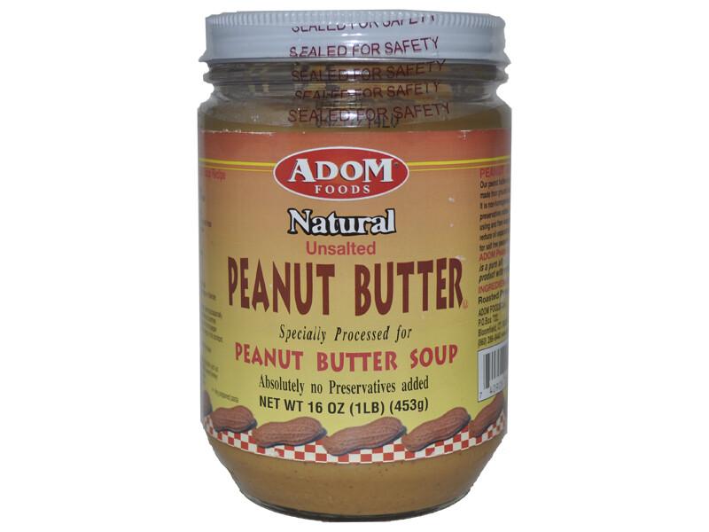 Adom Natural Peanut Butter -16oz