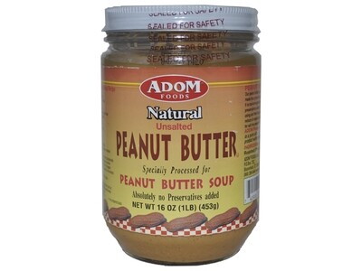 Adom Natural Peanut Butter -16oz