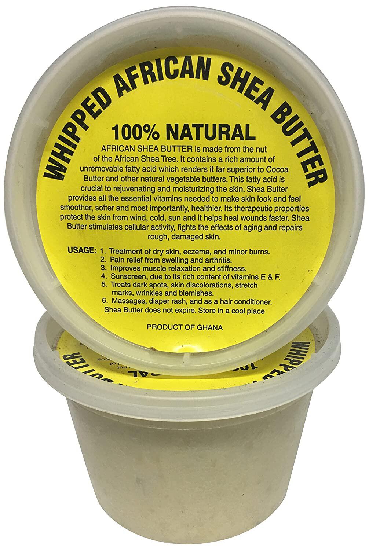 African Shea Butter Creamy, White, 16 oz