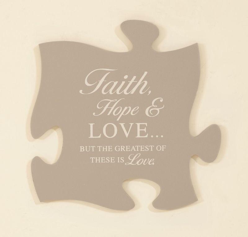 Faith, Hope & Love Puzzle Piece