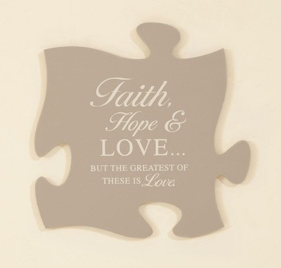 Faith, Hope & Love Puzzle Piece