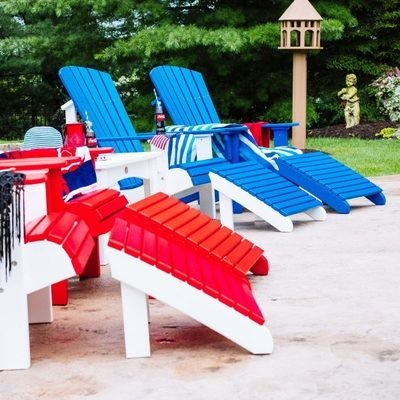 Luxcraft Poly Deluxe Adirondack Chair Footrest  -  FREE SHIPPING