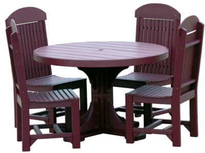 Poly 4' Round Table Set #1