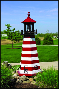 """Wood 18"""" West Quoddy Lighthouse"""