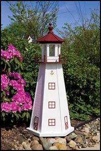 """Wood 18"""" Marblehead Lighthouse"""