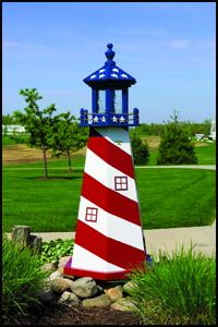 Wood 2' Stars & Stripes Lighthouse