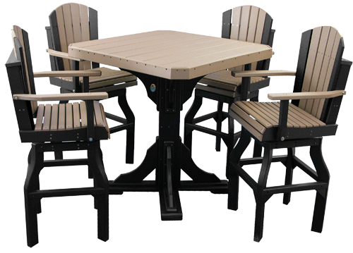 Poly Square Table Set  #2