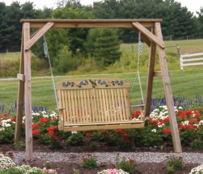 Wood Humming Bird Swing