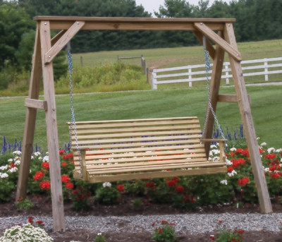 Wood Plain Swing