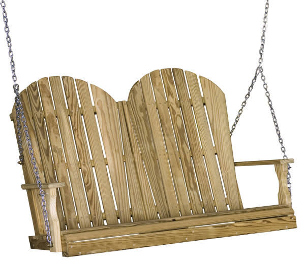 4' Wood Adirondack Swing