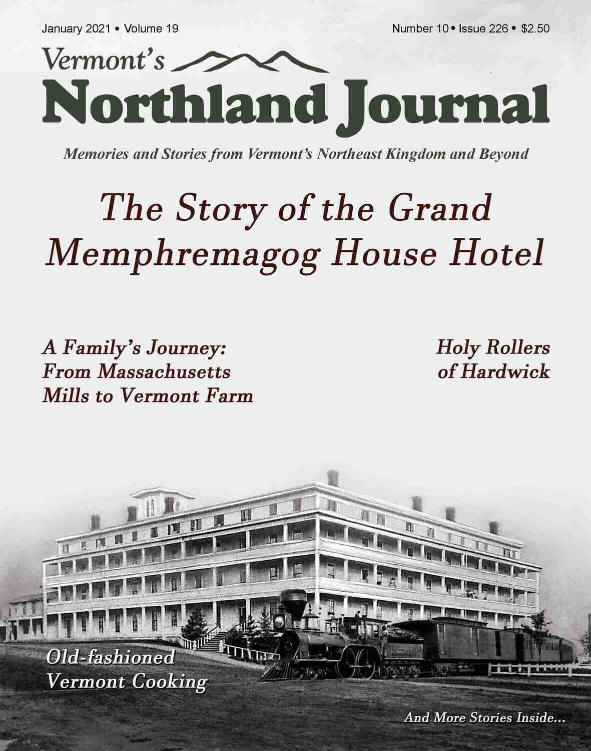 Annual Subscription to VT's Northland Journal Magazine